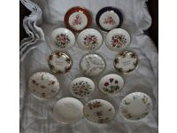 Minton Ansley Coalpoart Worcester - Job lot of 14 pin dishes