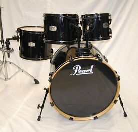 """All Black Pearl EX Export Series Rock Fusion Drum KIt Shell Pack - 22,10,12,14"""""""