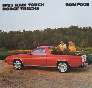 1983 Dodge Rampage & Rampage 2.2 Truck Sales Brochure
