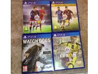 4 x PS4 GAMES BUNDLE FIFA WATCHDOGS EXCELLENT CONDITION