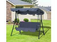 3 SEATER SWING SEAT GREY BRAND NEW IN THE BOX £69.99