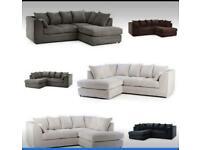 Jumbo cord corner sofas left or right 32 always in stock
