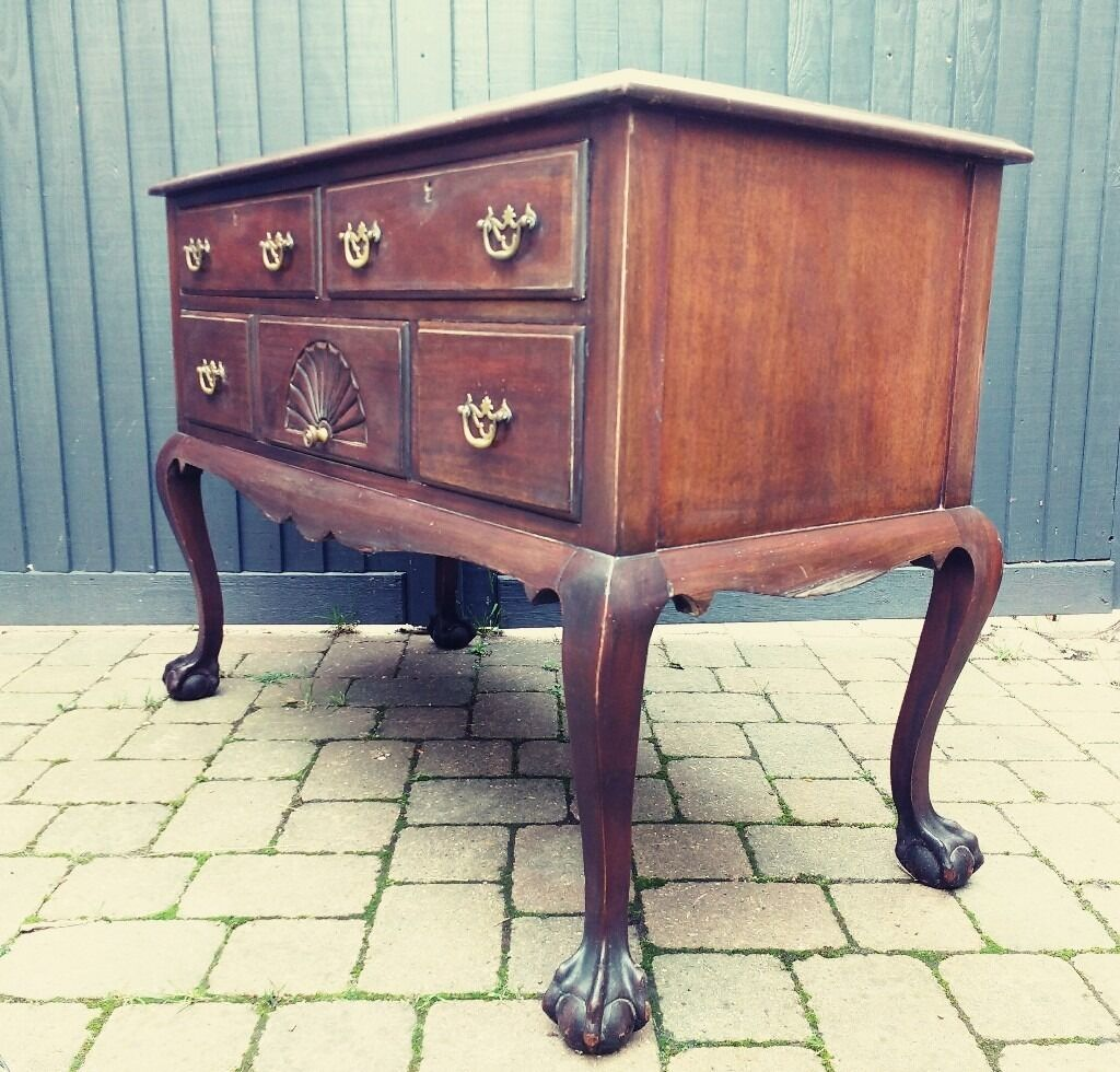Antique Vintage Edwardian Mahogany Sideboard Ball Claw Feet Shabby Chic Delivery Available
