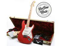 Fender USA Custom Shop Custom American Classic Stratocaster Fiesta Red & Case Candy