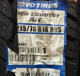 Toyo Open Country A/T 215 70 16 99S BRAND NEW Tyre
