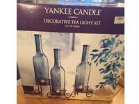 New - Yankee Candle decorative tea light set.