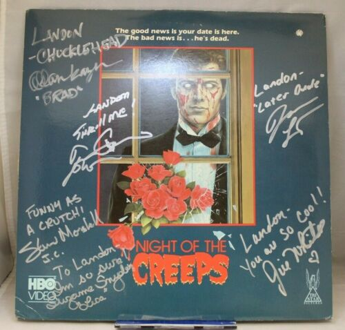 Night of the Creeps Signed Laserdisc Horror Movie - 6 Signatures with Tom Atkins