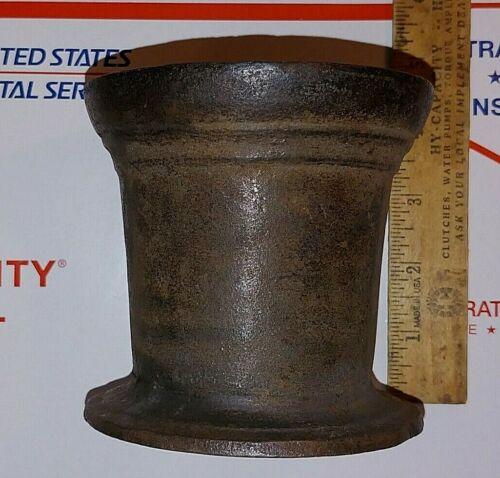 Rare Antique Cast Iron Mortar