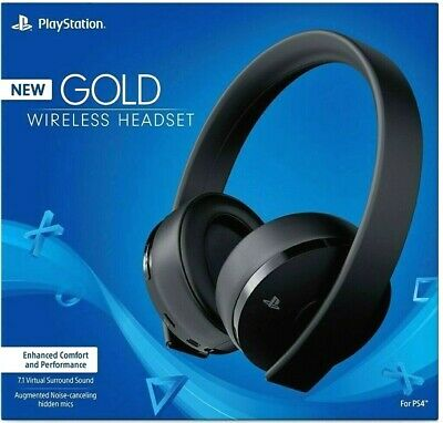 Sony PS4 Gold Wireless Headset Black 7.1 Surround - NEW - Same Day Ship by 4PM
