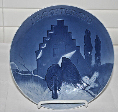 """1916 Bing & Grondahl Annual Christmas Plate 7"""" Wide """"Prayer of the Sparrows"""""""