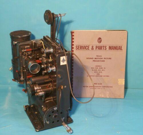 Vintage Victor Animatophone Film Projector Model 60 & Copy of Instruction Manual