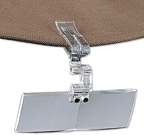 CLIP-ON FLY TYING FLIP FOCAL w/ Locking Pin and Snap 2.5X Magnification