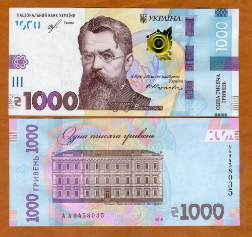 Ukraine, 1000 Hryvnia, 2019, P-New, New Highest Denomination, AA-Prefix, UNC