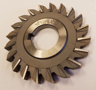 "Straight Tooth 3 x 9//32 x 1/"" HSS Side Milling Cutter"