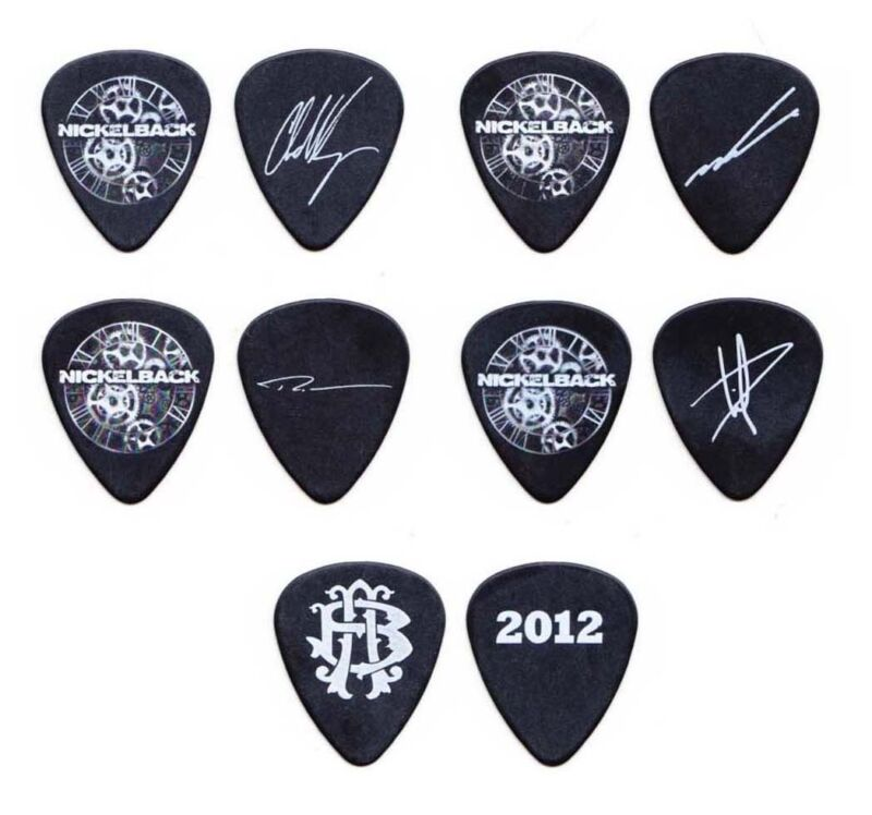 Nickelback 5 Signature Guitar Pick Set - 2012 Tour Chad Kroeger
