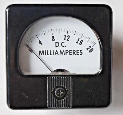 Vintage Dallas Meter-tek Dc Milliamperes Meter 53sn Bakelite Steampunk Radio