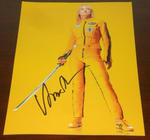 UMA THURMAN SIGNED KILL BILL CLASSIC BRIDE W/ SWORD 8X12 PHOTO AUTOGRAPH COA