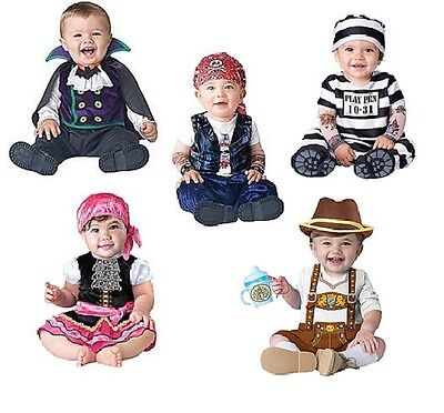 NWT INFANT HALLOWEEN COSTUME - BABY BIKE BAVARIAN PIRATE CONVICT 12-18M 18-24M](Pirate Costume Baby)
