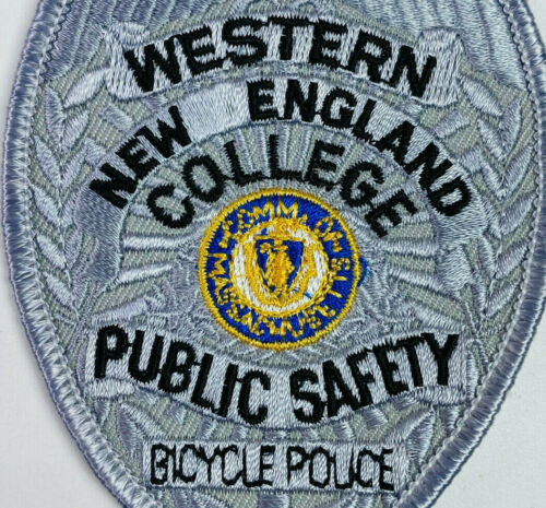 Western New England College Public Safety Bicycle Police Massachusetts Patch A1
