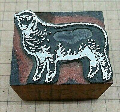 Sheep Letterpress Printer Block Kelsey Printing Press