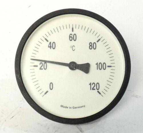 Bimetall-Thermometer  | 0-120 Celsius | Ø ca.100 mm |  Länge: ca. 30mm
