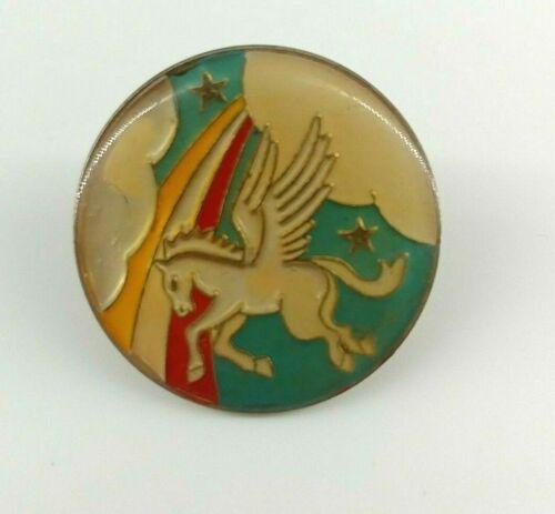 Enamel Pegasus Pin, 80s, hat pin, jacket pin