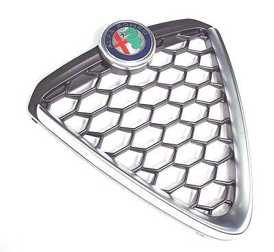 Alfa Romeo Mito 2016> Front Radiator Grille Brushed Alloy Finish New & Genuine