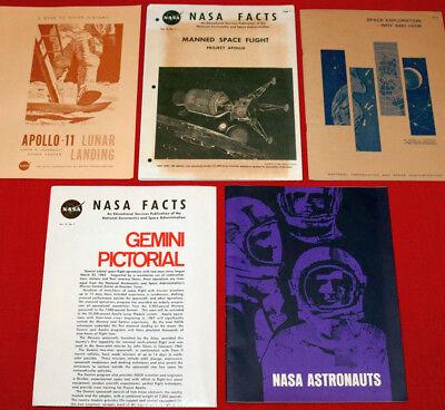 Lot NASA Memorabilia MIX Gemini Astronauts Apollo 11 Lunar Landing Booklet XZ