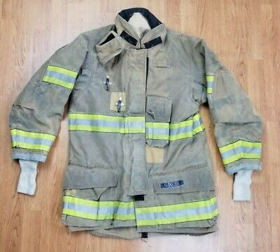 Globe G-xcel Firefighter Turnout Bunker Coat W Drd 38 X 36 Mfg. 2014