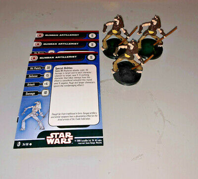 Star Wars Miniatures Knights of Old Republic 3 x GUNGAN ARTILLERIST #24  3 minis
