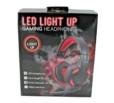 3.5mm Gaming Headset MIC LED Bass Headphones Stereo for Laptop PS4 Xbox one