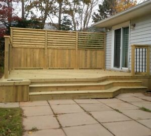 Wooden decks and fences