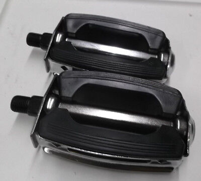 "Schwinn 1//2/"" Bicycle Pedal Pair Block Style Aftermarket NEW Murray Huffy"