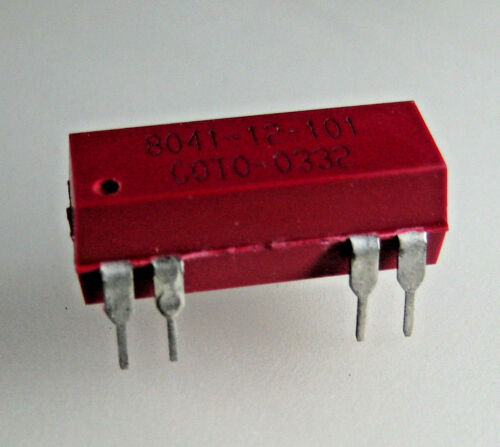 2 pcs Coto Technology  8041-12-101 Reed Relay SPDT (1 Form C) Through Hole