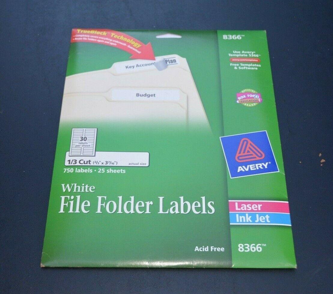 Avery File Folder Labels for Laser and Inkjet Printers, 0.6