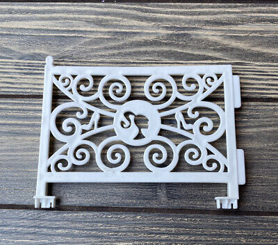 """2012 Barbie Dream House Replacement Part Piece White Swirl Gate 5.5"""""""