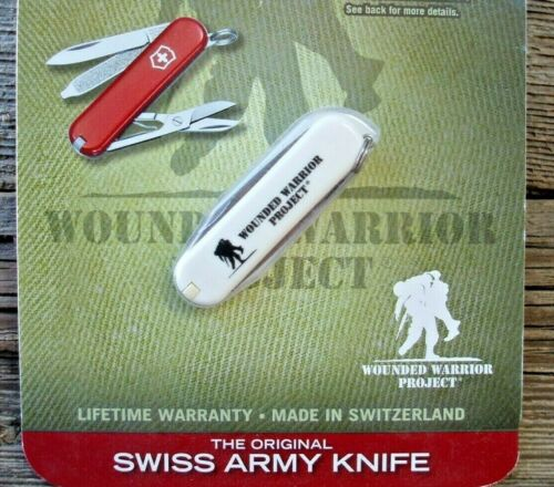 VICTORINOX CLASSIC SD Wounded Warrior Project White Original Swiss Army Knife