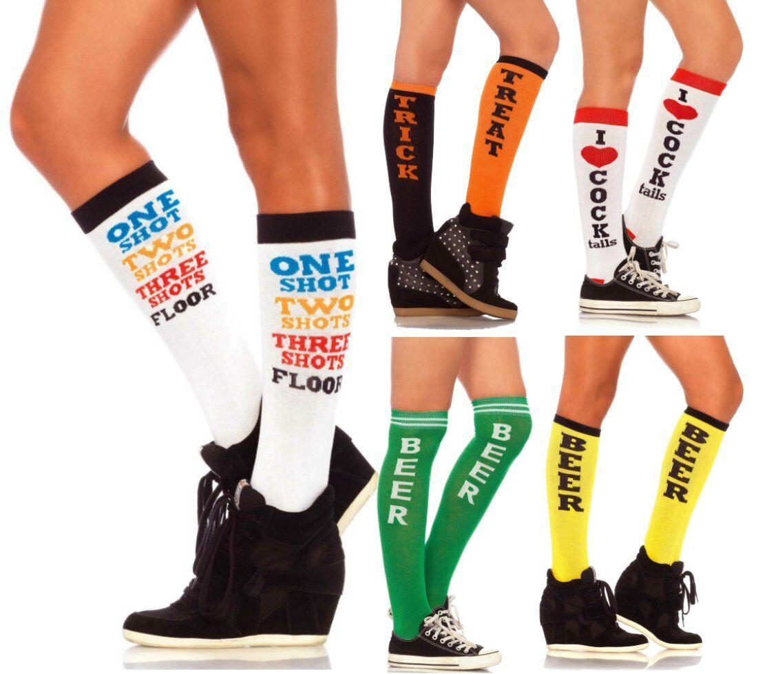 LAG Leg Avenue Söckchen Socken Strümpfe Sportlich mit Spruch witzig lustig Fun