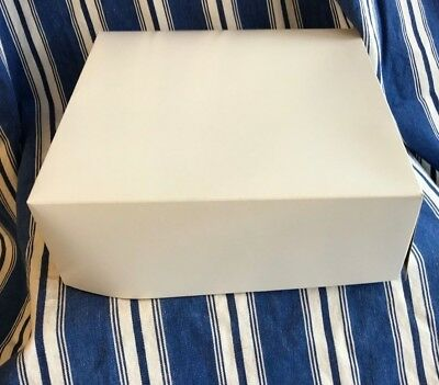 Cake - Pie -cookies -muffins- Bakery Boxes White Paperboard - Fits A 9 Inch Pie