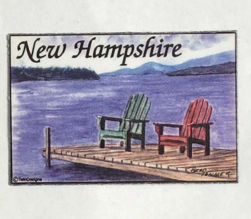 Vintage New Hampshire Travel Souvenir~Refigerator Magnet~Good Pre-Owned