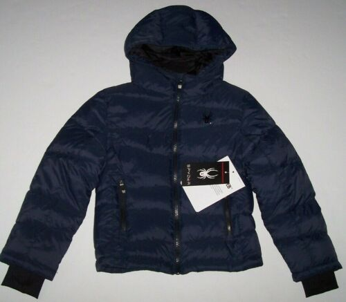 NWT Spyder $149 FRONTIER TONAL NAVY BLUE/Black Nexus Puffer Jacket Coat Boys 5
