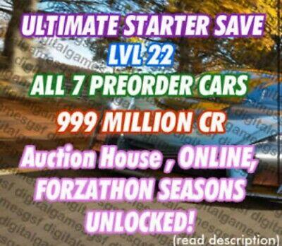 Forza Horizon 4 MODDED ACCOUNT (999,999,999 Million cr) 75% OFF HUGE SAVING