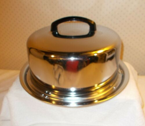 """The Everedy Co. Vintage Stainless Steel 10"""" Cake Holder/Locking Carrier 5"""" High"""