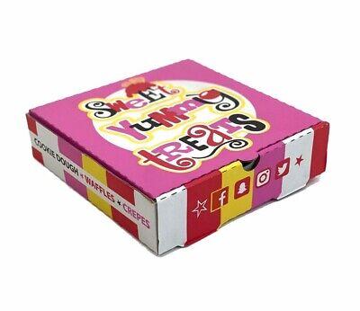 20 x Takeaway Dessert Sweet Treats Box Strong Quality Postal Boxes Cute 19x19cm