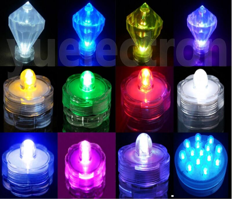 12/24/36 Led Submersible Waterproof Wedding Floral Decoration Party Tea Light