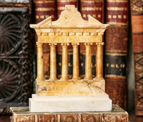 Stunning Temple of Saturn Antique Grand Tour Architecture Carved Model