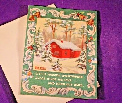 Brownie Christmas Greeting Card Erica Von Kager Little House 3x4