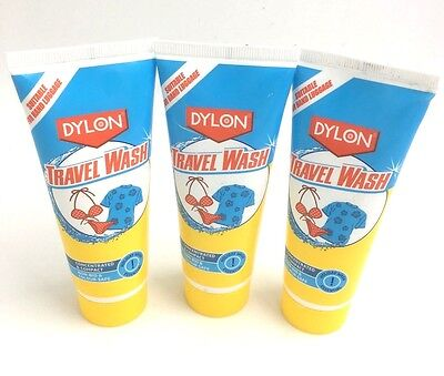 3 x DYLON TRAVEL WASH FABRIC CARE 75ML 20 WASH UK FREE DELIVERY