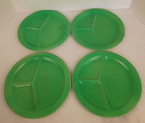 4 BCM Nelson Ware Grill Plate Green Apple Made In England Divided