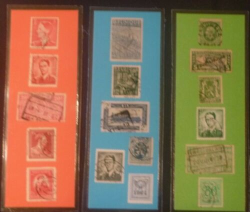 3 BOOKMARKS ~ Belgium Laminated POSTAGE STAMPS  ~AWESOME!  Ghent
